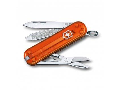 kapesni nuz klicenka victorinox 58 mm transparentni oranzovy fire opalkvalitni noze 1