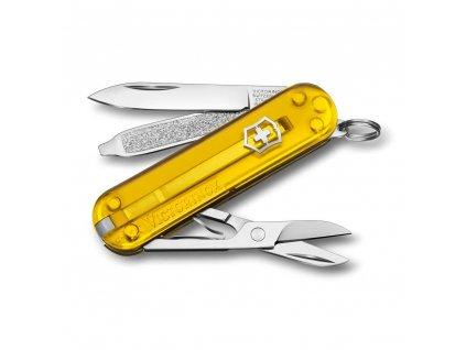 kapesni nuz klicenka victorinox 58 mm transparentni tuscan sun zluty kvalitni noze 3