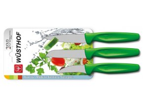 sada kuchynskych nozu na zeleninu zelena 3 ks wusthof solingen