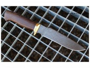 rusky lovecky nuz z damaskove oceli lovec kovarna klementeva wenge