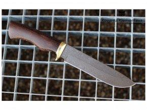 rusky lovecky nuz z damaskove oceli viking kovarna klementeva wenge