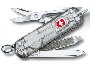 kapesni mini nuz klicenka victorinox signature lite 58 mm transparentni stribrny