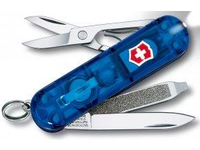 kapesni nuz mini klicenka victorinox swiss lite 58 mm transparentni modry