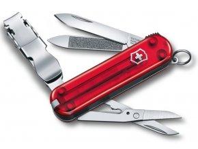 kapesni mini nuz klicenka victorinox nail clip 580 65 mm transparentni cerveny