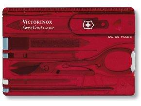 swisscard victorinox classic cervena