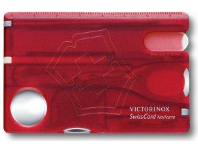 swisscard victorinox nailcare transaprentni cervena