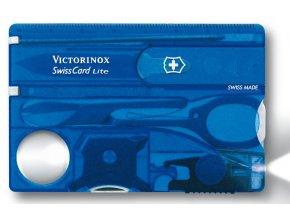 swisscard victorinox lite transparentni modra