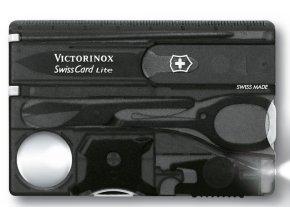 swisscard victorinox lite transparentni cerna