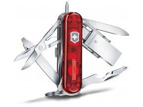 kapesni nuz klicenka victorinox midnite manager work usb transparentni cerveny 58 mm