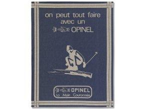 bavlnena kuchynska uterka na nadobi modra opinel francouzska