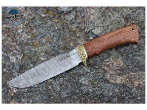 lovecky damaskovy nuz damascensky siberia knives tesak mahagon