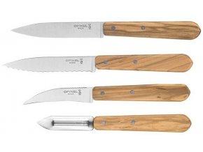 sada kuchynskych nozu skrabky opinel les essentiels olive wood 002163