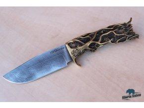 rusky rucne kovany lovecky nuz z damaskove oceli siveluc siberia knives 6
