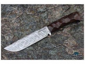 rucne kovany rusky lovecky nuz z damaskove oceli barog siberia knives