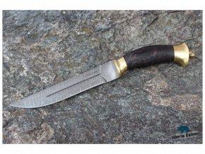 lovecky rusky nuz z damaskove oceli pirat habr mosaz siberia knives