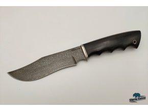 rusky rucne kovany lovecky damaskovy nuz damascenska ocel dundee siberia knives