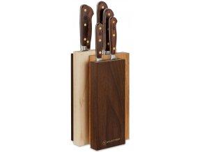 sada kovanych kuchynskych nozu s drevenou rukojeti v bloku crafter wusthof solingen 9834 7