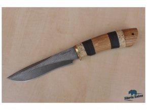 rusky lovecky damaskovy nuz z damascenske oceli gepard siberia knives
