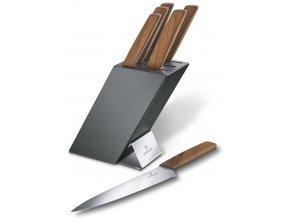 sada kuchynskych nozu s drevenou rukojeti v bloku victorinox swiss modern 6.7186.6