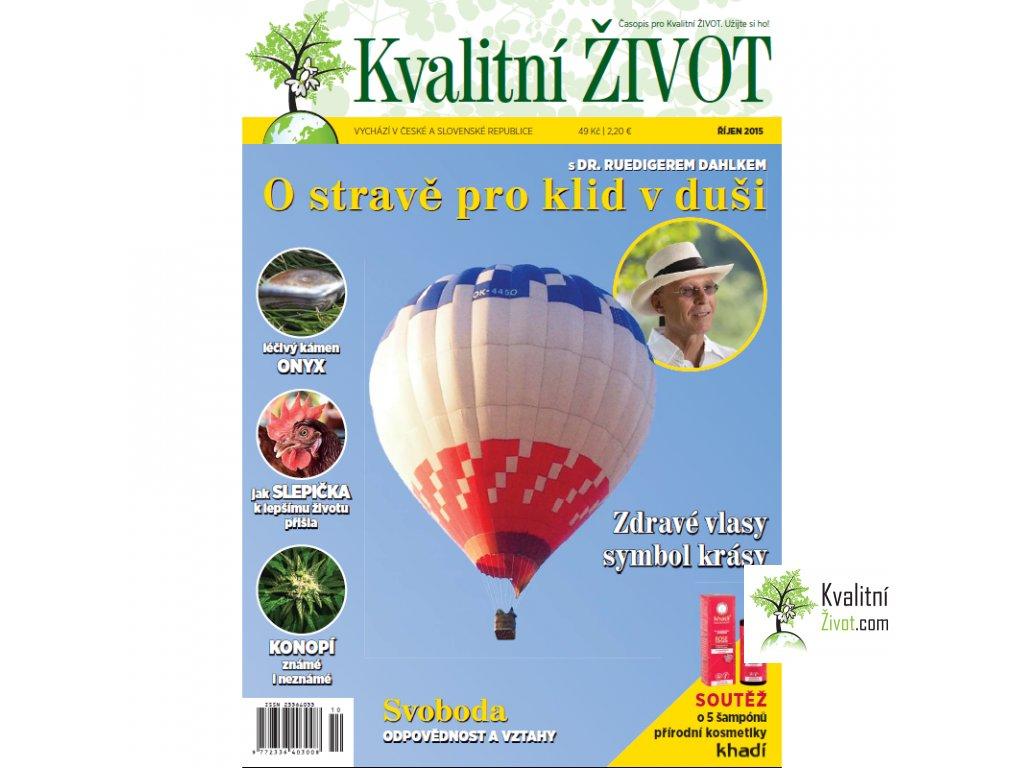 Časopis pro Kvalitní ŽIVOT 10. číslo ŘÍJEN 2015