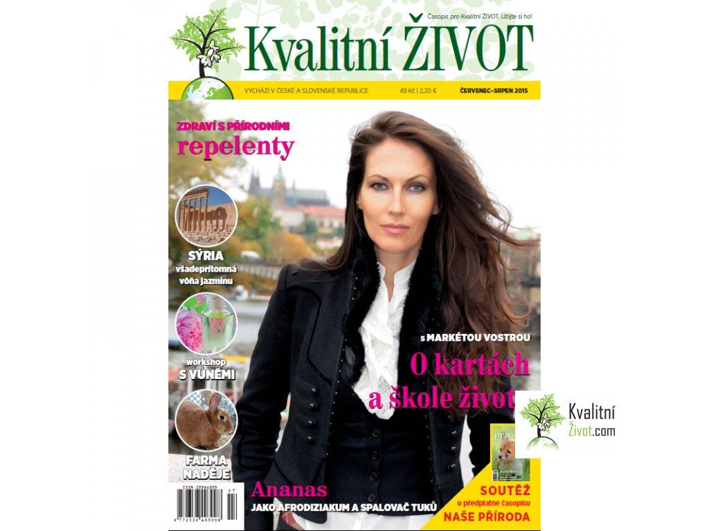 Časopis pro Kvalitní ŽIVOT 7.-8. číslo ČERVENEC+SRPEN 2015