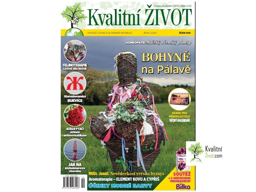 Časopis Kvalitní ŽIVOT 10. ŘÍJEN 2016 tištěný