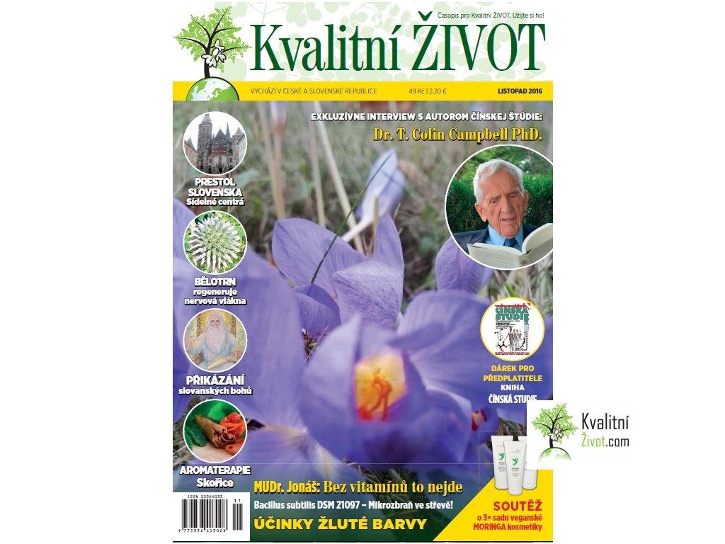 Časopis Kvalitní ŽIVOT 11. LISTOPAD 2016 tištěný