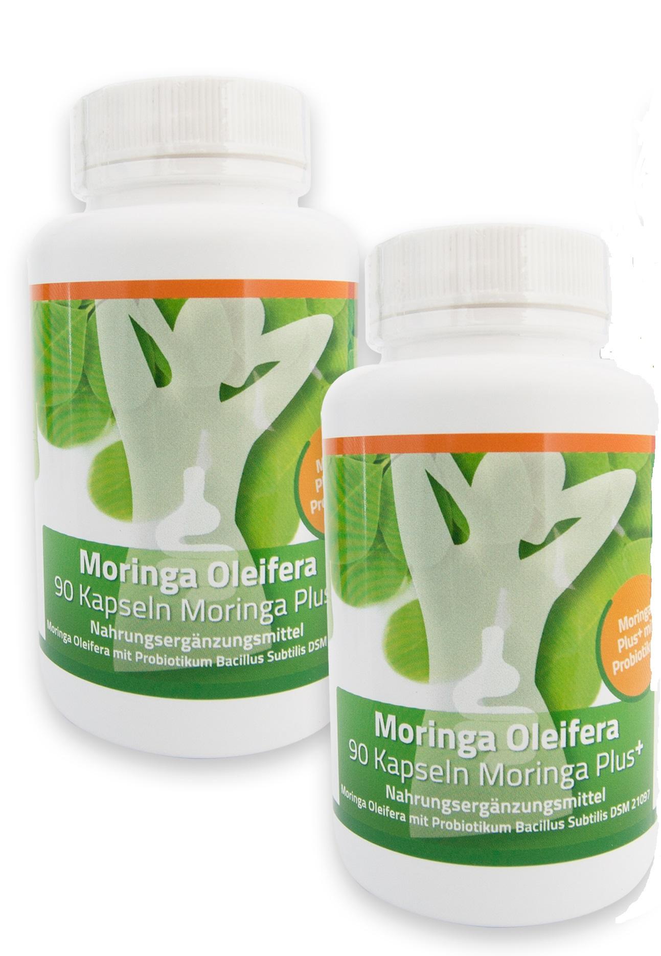 Moringa + probiotikum Bacillus subtilis DSM 21097, 2 X kapsle pro zdravá střeva