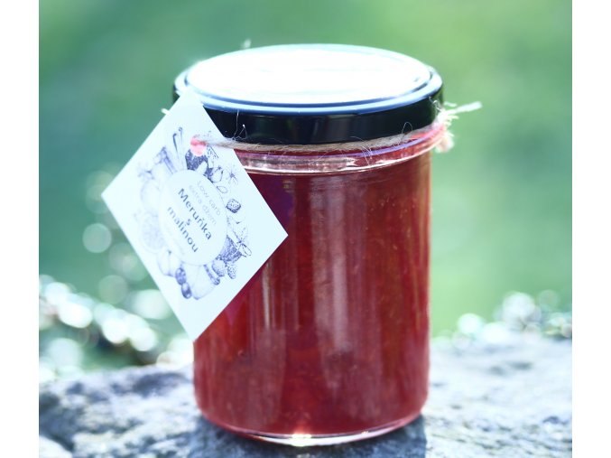 Low carb džem meruňka s malinou
