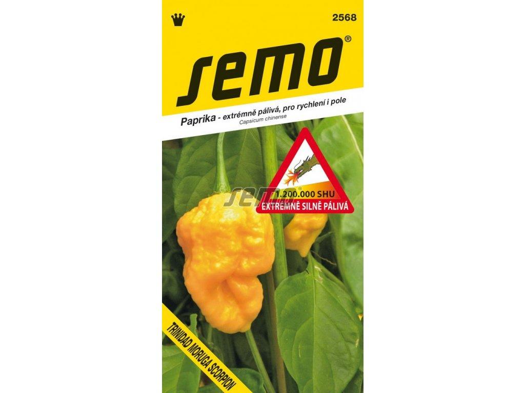 2568 semo zelenina paprika rocni trinidad moruga scorpion yellow