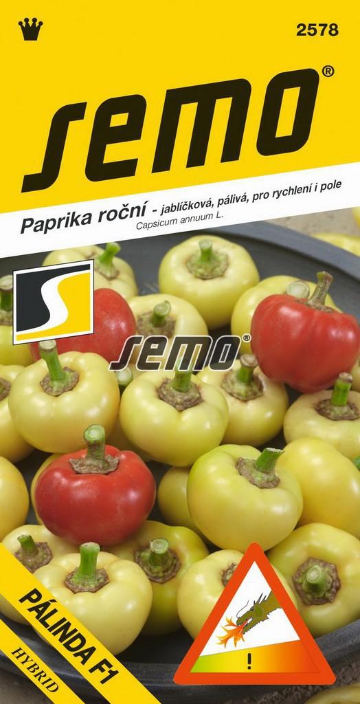 Paprika Pálinda F1 - zel. pálivá bílá, jablíčková, rychl,pole 15s /SHU 2 500/