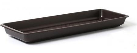 Miska pod truhlík Garden - hnedý Hnědá, 40cm