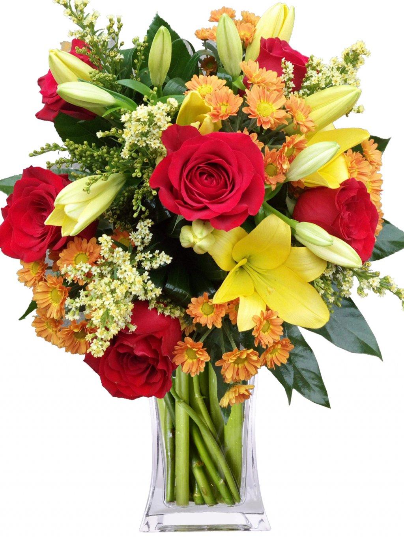 cervene ruze lilie santiny