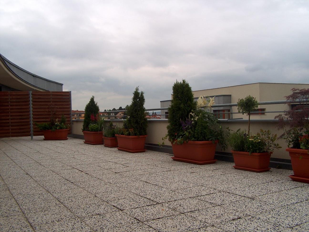Výsadby terasy, balkony