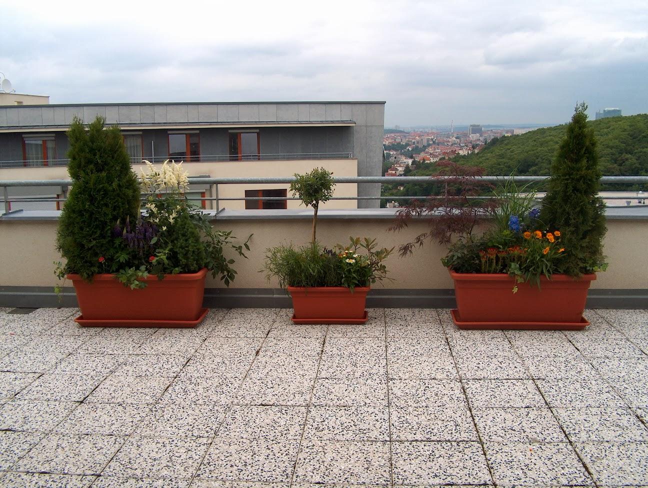 Výsadby terasy, balkony det.