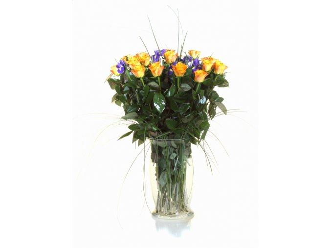 Kytice Růže s Irisy