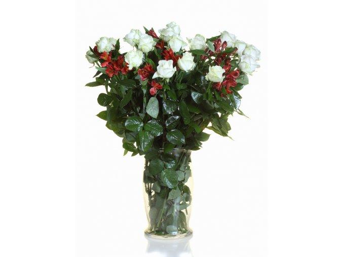Kytice Růže s Alstromerií