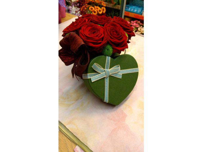 Flowerbox Růže srdce