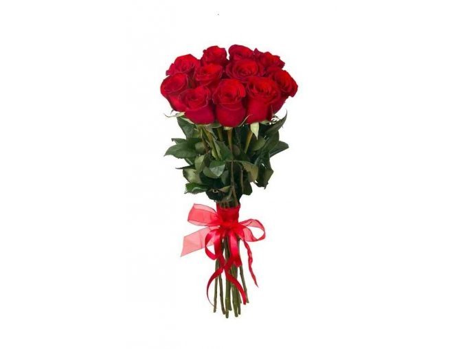 bouquet of 11 red roses 50 60 cm