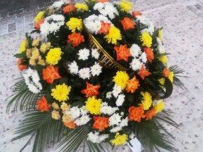 Vypichovaná kytice - oranžová