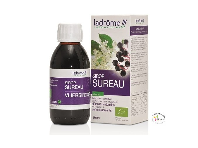 Ladrôme - Sirup z plodů a květů  černého bezu  - 150 ml BIO