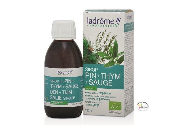 Ladrôme - Tymiánový sirup s borovicí  - 150 ml BIO