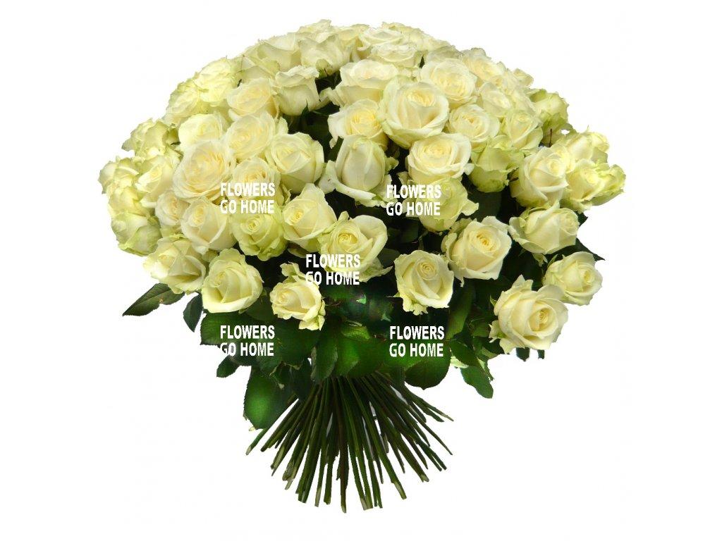 Kytice bílých růží, 60cm
