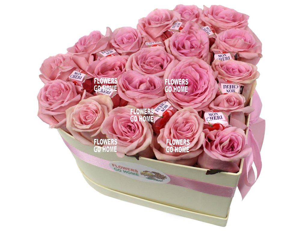 Srdce z růží