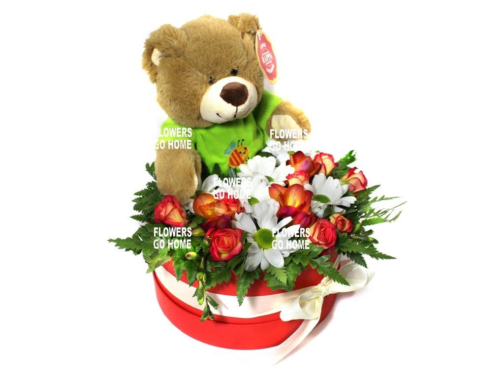 Valentýnský medvídek
