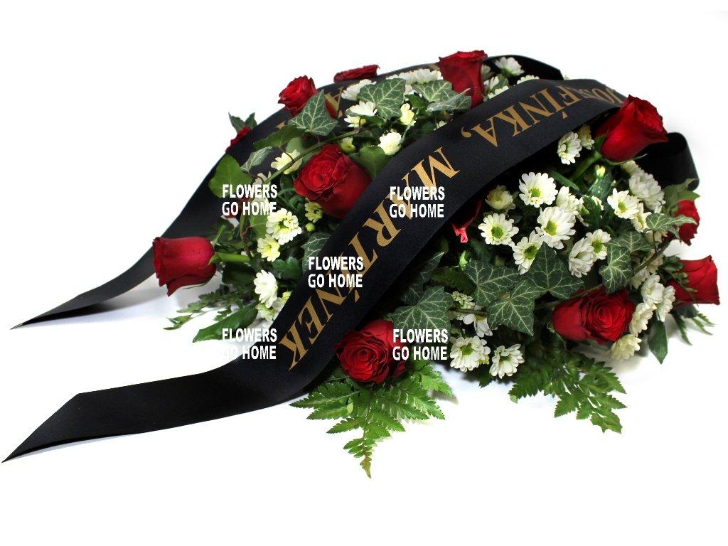 Smuteční dekorace růže / santini