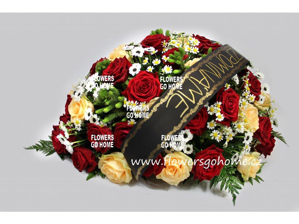 Smuteční květina - vypichovaná