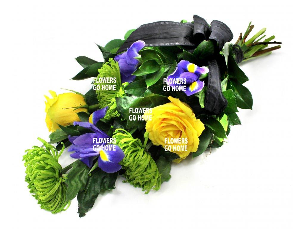Smuteční květina růže / irisy