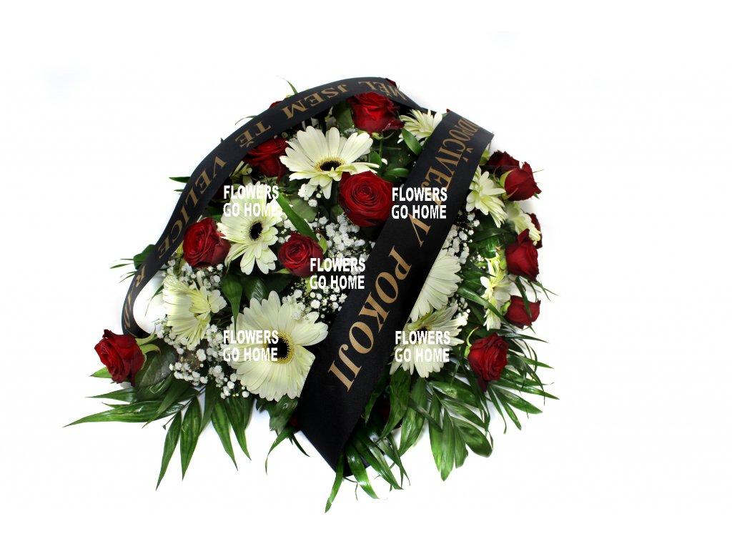 Smuteční dekorace růže / gerbery