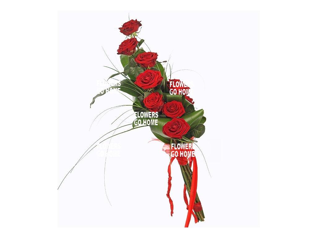 Valentýnská kytice růží